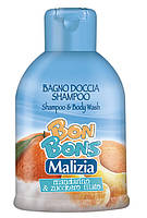 Шампунь-гель для душа мандарин и сахарная вата, 500мл, Malizia Bon Bons, Mirato