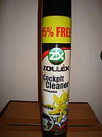 Полироль пластика торпедо аэрозольный Zollex 750мл (Ваниль)