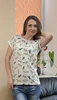 Стильная женская футболка кеды