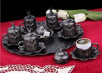 Набор чашек для кофе Бронзовый тюльпан на 6 персон