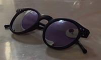 Очки солнцезащитные зеркальные 2016 серебро, черная оправа