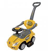 Толокар Magic Car с ручкой, желтый