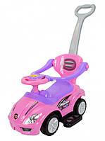 Толокар Magic Car с ручкой, розовый для девочек