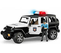 Bruder 02526 машинка - джип Полиция Wrangler Unlimited Rubicon c фигуркой полицейского
