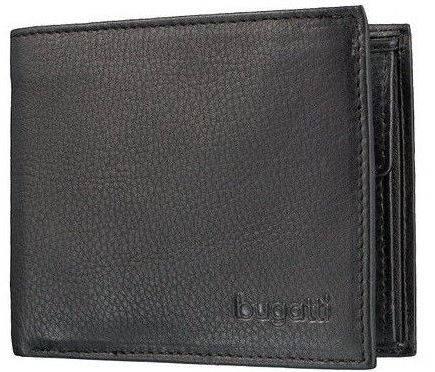 Мужское кожаное портмоне  Bugatti 49117901 черный
