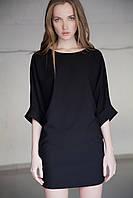 Женское однотонное платье-туника свободного кроя