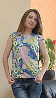 Стильная женская блузка капелька со складкой