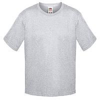 Серая детская футболка Премиум