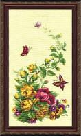 """Набор для вышивки крестом Триптих """"Полевые цветы"""" №215"""