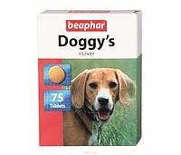 Beaphar Doggy's +Liver 75шт - витамины для взрослых собак со вкусом печени  (12504)