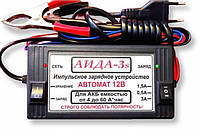 Зарядное устройство «АИДА-3s» (12В АКБ 4-55А*час). Под заказ с перекл. гелевый/кислотный