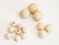 Бусины деревянные буковые для слингобус, 20, 15 и 11 мм, набор 160 шт.