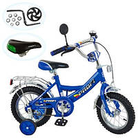 Велосипед PROFI детский 12д. синий, каретка