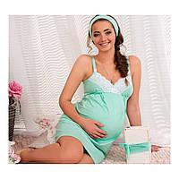 Ночная сорочка для беременных и кормящих Мохито
