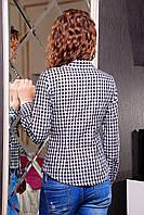 Блуза в клетку с длинным рукавом