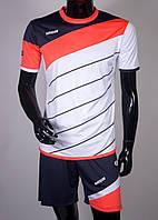 Футбольная форма Europaw 008 бело-коралловая