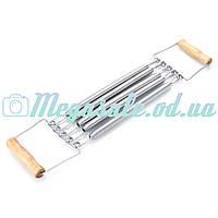 Эспандер грудной/плечевой пружинный с деревянными ручками: 5 пружин