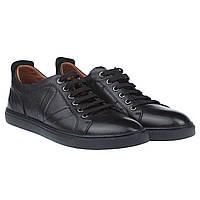 Черные кожаные мужские туфли от Lido Marizoni