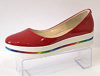 Туфли женские красные Kento 00235