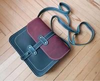 Женская кожаная сумка Erta на плечо кросс боди маленький размер