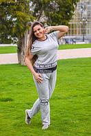 Женский спортивный костюм с коротким рукавом больших размеров