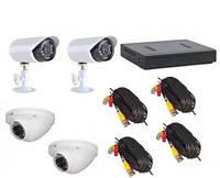 Комплект видеонаблюдения на 4 камер DVR KIT AHD 7904 4ch, техника для охраны