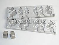 Алюминиевая форма для леденцов на палочке мишка