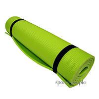 Коврик (каремат) для туризма и фитнеса, однослойный, 5 мм, разн. цвета