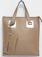 Деловая женская сумка для документов кофе