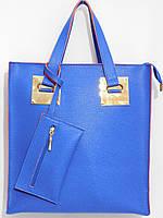 Деловая женская сумка для документов синяя