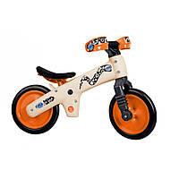 Детский беговел (италия) для девочек и мальчиков унисекс пластик Bellelli (белый с оранжевым)