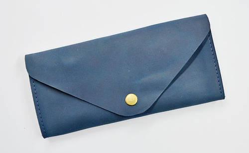 Роскошное портмоне из натуральной кожи GBAGS W.0010-ALI  синий