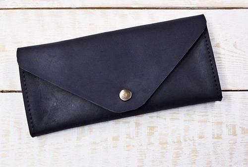 Практичное портмоне из натуральной кожи GBAGS W.0010-СН черный