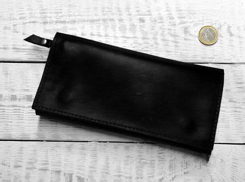 Потрясающее портмоне из натуральной кожи GBAGS W.0011-CH черный