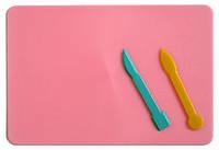 Доска для пластилина большая 51006 (250х193)+2 стека (1/150) 49341 Ч