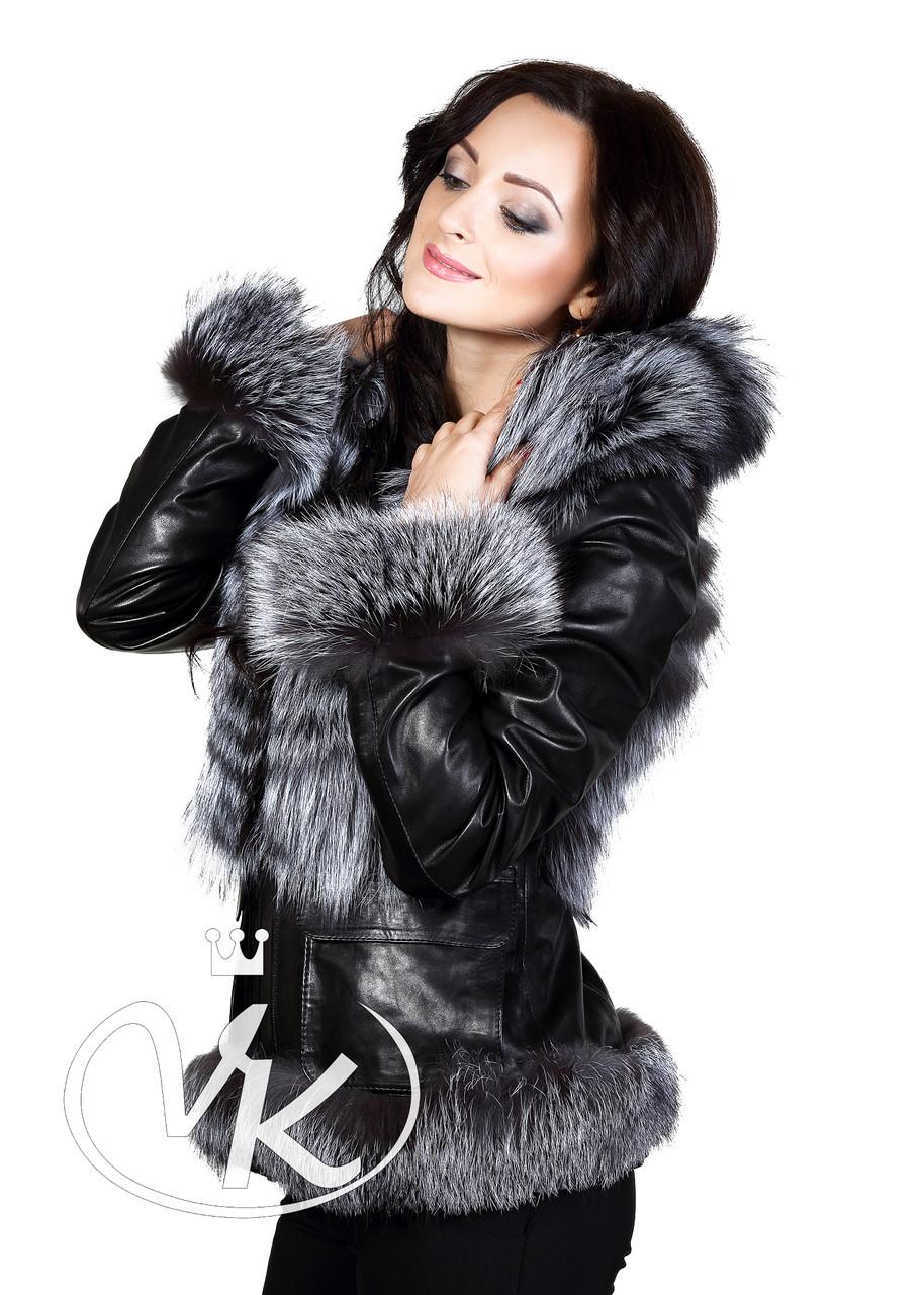 Купить кожаную куртку с чернобуркой