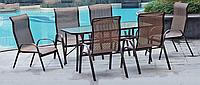 Роскошная мебель для сада из металла, комплект «Marianna» (стол, 6 кресел)