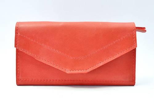 Прелестное портмоне из натуральной кожи GBAGS W.0012-ALI красный
