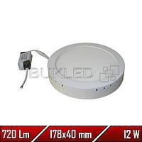 Светильник Led накладной, круглый, 220 В, 12 Вт, Econom (20 000 ч)