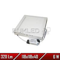 Светильник Led накладной, квадратный, 220 В, 6 Вт, Econom (20 000 ч)