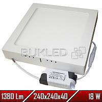 Светильник Led накладной, квадратный, 220 В, 18 Вт, Econom (20 000 ч)