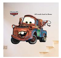 Наклейка на стену, виниловые наклейки мультфильм Тачки Cars Мэтр Сырник 86*65см (лист90*60см)