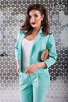 Женский костюм с брюками ментол
