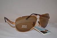 Солнцезащитные очки мужские капли коричневый BOGUAN 2011