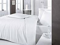 Постельное белье Sateen Strip семейный (ТМ CLASY) белый, Турция