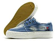 Кеды женские Violeta джинсовые голубые