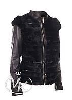 Кожаная куртка + меховой жилет 2 в 1