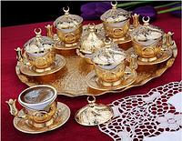 Набор чашек для кофе Золотая медаль на 6 персон