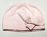 Шапочка вязаная розовая