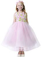 Цветочное платье с юбкой из тюля 2-10 лет